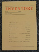 Inventory: Losing, Finding, Collecting - Vol. 3 No.2 - 1999