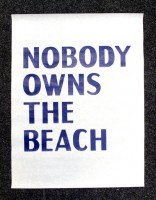 NOBODY OWNS THE BEACH (poster)