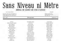 Sans niveau ni mètre – Collection – 10 ans du Journal du Cabinet du livre d'artiste – 2007-2017 (coffret)