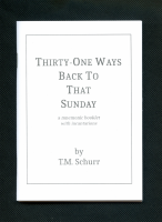 Thirty-One Ways Back To That Sunday Booklet