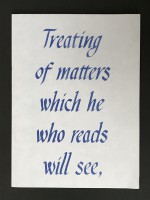Treating of matters which he who reads will see, and he who listens to them, when read, will hear.