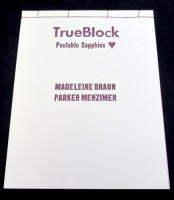 TrueBlock 2nd edition - Peelable Sapphics - Ugly Duckling Presse