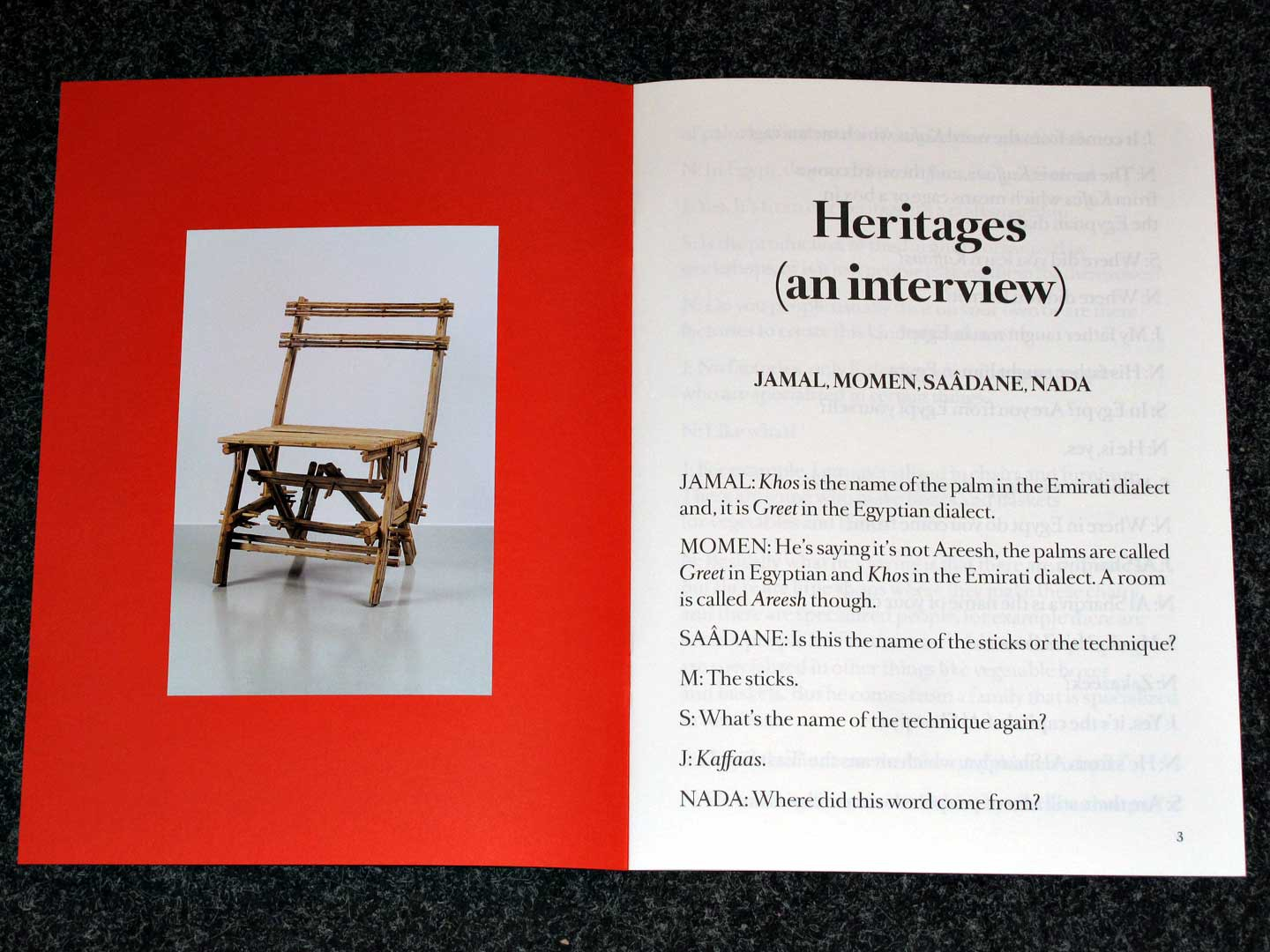 Heritages An Interview Books