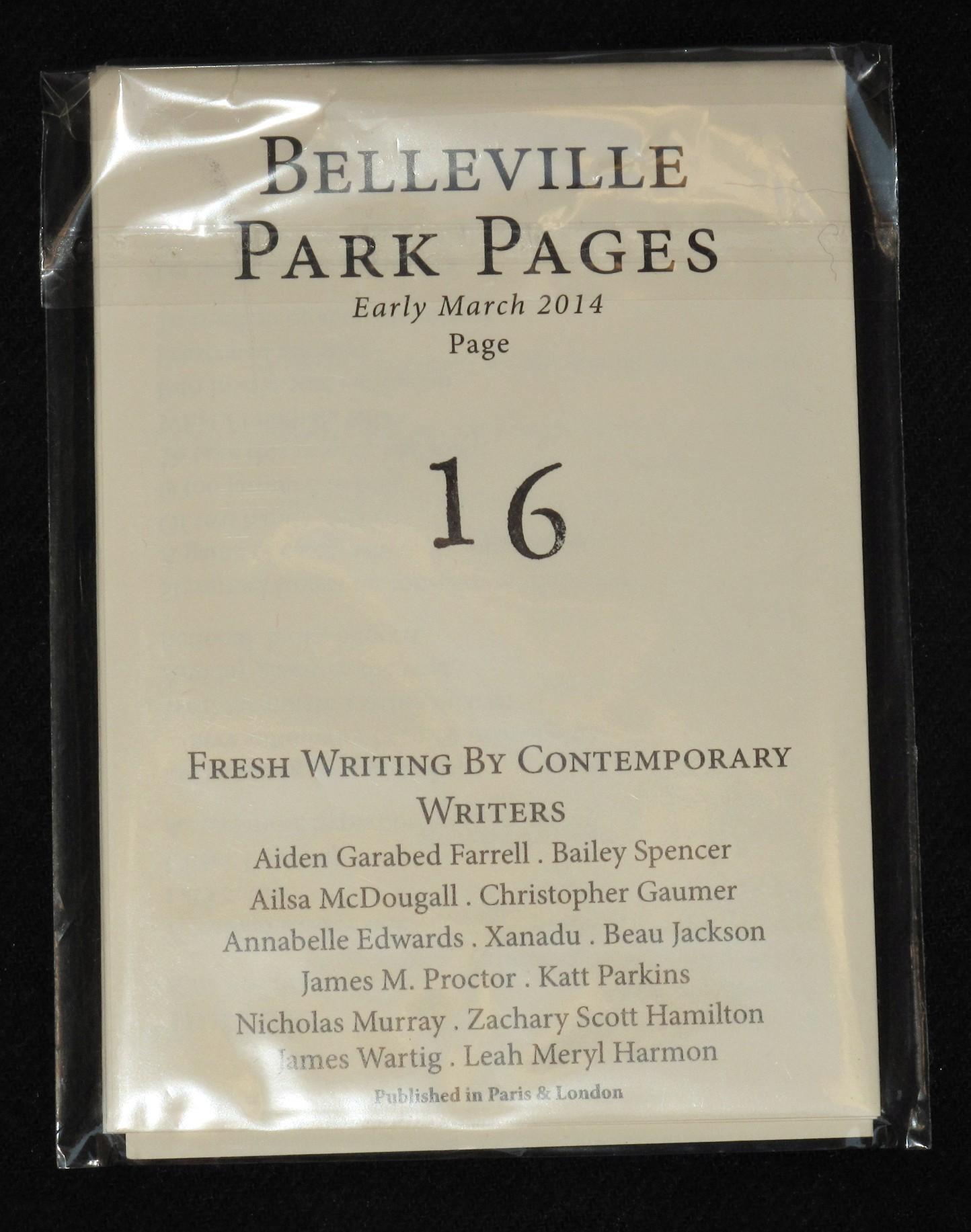 Belleville Pages Belleville Park Pages 16