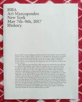 HBA Ari Marcopoulos New York May 7th - 9th, 2017 History.