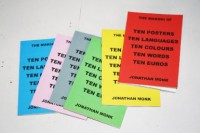 The making of ten posters ten languages ten colours ten words ten euros