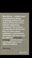 A Philosophy of Design