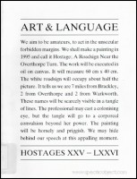 Art & Language : Hostages XXV-LXXVI