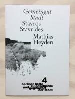 Gemeingut Stadt - Berliner Hefte zu Geschichte und Gegenwart der Stadt #4