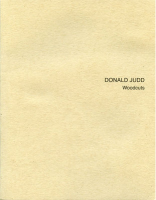 Donald Judd: Woodcuts