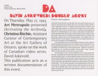 [Activating the Archive] 4: David Askevold, Double Agent