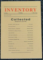 Inventory: Losing, Finding, Collecting - Vol. 2 No.2 - 1997