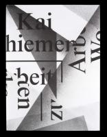 Kai Schiemenz: Arbeiten / Works
