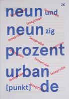 neunundneunzig prozent urban [punkt] de / leseprobe