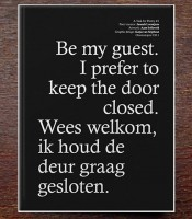 OMP 30.1: A Task For Poetry #1: Be My Guest. I Prefer To Keep The Door Closed.