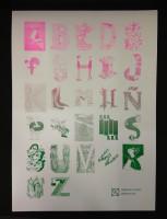Alphabet - (Pink & Green)
