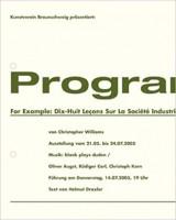 Program: For Example: Dix-Huit Leçons Sur La Société Industrielle (Revision I)
