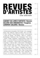 Revues d'artistes, une sélection