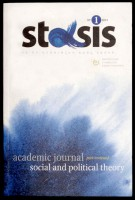 Stasis. Academic journal. Social and political theory