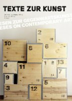 "Texte Zur Kunst 74 / June 2009 ""Statements on contemporary art"""