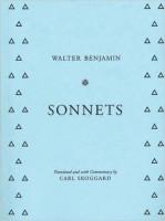 Walter Benjamin: Sonnets