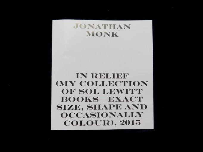 Jonathan Monk_In relief_my collection of Sol LeWitt books - exact size, shape and occasionally colour_Christoph Schifferli, Geraldine Tedder_Archiv_Motto Books_2016_1