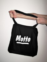 Motto Tote Bag (black)