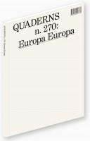 QUADERNS #270: Europa Europa