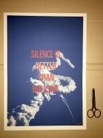 SILENCE IS BETTER THAN BULLSHIT (poster - blue)