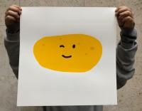 the happy potato (silkscreen print)