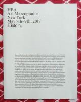 HBA Ari Marcopoulos New York May 7th - 9th, 2017 History.