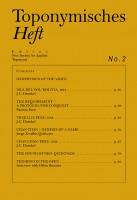 Toponymisches Heft No. 2: Geophysics of the Voice (EN)