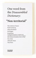 """Disassembled Dictionary: """"Non-territorial"""""""