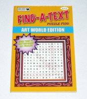Find-a-Text: Artworld Edition