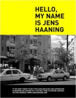Hello, my name is Jens Haaning