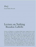 Lecture on Nothing
