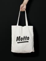 Motto Tote Bag (natural)