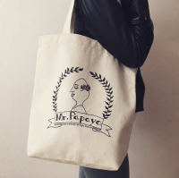 Mr. Papaya tote bags