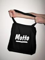 Motto Tote Bag (black)